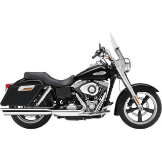 "COBRA SLASHDOWN 4"" CHROME MUFFLER FOR HARLEY DYNA SWITCHBACK 2012-2016"