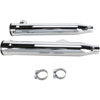 "COBRA RPT SLIP-ONS 3"" CHROME MUFFLERS FOR HARLEY DAVIDSON DYNA FAT BOB, WIDE GLIDE"