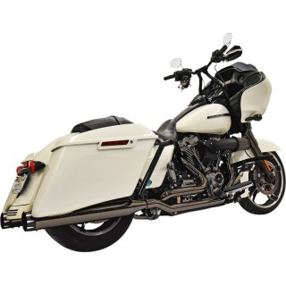 BASSANI XHAUST TRUE-DUAL DOWN UNDER BLACK EXHAUST FOR HARLEY TOURING 17-21