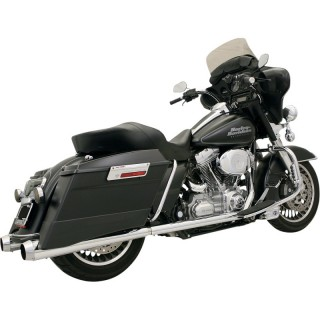 BASSANI XHAUST TRUE-DUAL +P BAGGER CHROME EXHAUST FOR HARLEY TOURING 99-08