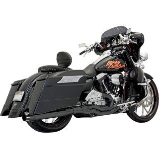 BASSANI XHAUST ROAD RAGE II B1 2 IN 1 BLACK EXHAUST HARLEY TOURING 95-16