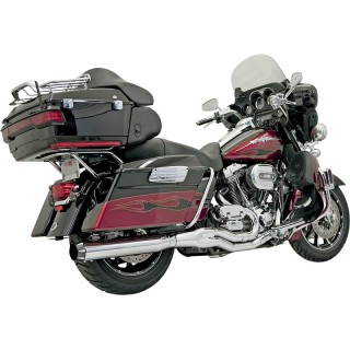 SCARICO BASSANI XHAUST ROAD RAGE B4 2 IN 1 CROMATO DRITTO HARLEY TOURING 95-16