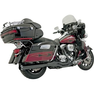 BASSANI XHAUST ROAD RAGE B4 2 IN 1 BLACK STRAIGHT EXHAUST HARLEY TOURING 95-16