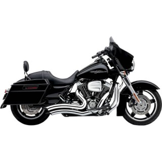 COBRA SPEEDSTER SHORT SWEPT CHROME EXHAUST FOR HARLEY DAVIDSON TOURING 2010-2016