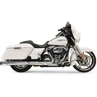 "BASSANI XHAUST SLIP-ON QUICK CHANGE 4"" CHROME MUFFLER FOR HARLEY TOURING 17-21"