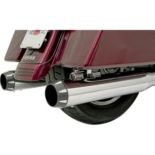 FLUTED BLACK END CAP FOR BASSANI XHAUST MUFFLERS