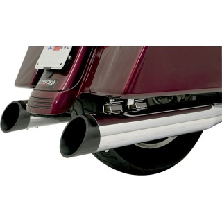 BLACK SLASH CUT END CAP FOR BASSANI XHAUST MUFFLERS