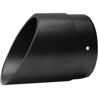 "SLASH CUT 1"" EXTENDED BLACK END CAP FOR BASSANI XHAUST MUFFLERS"