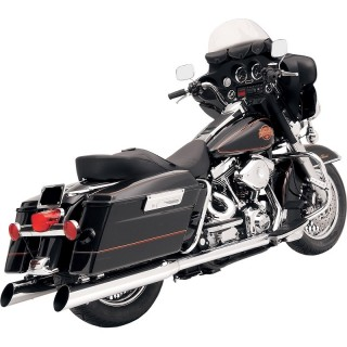 BASSANI XHAUST SLASH-CUT CHROME MUFFLER FOR HARLEY TOURING 95-16