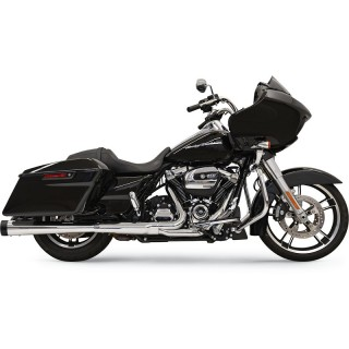 "BASSANI XHAUST MEGAPHONE SLIP-ON 4"" DNT PERFORMANCE CHROME BLACK MUFFLER TOURING 17-21"