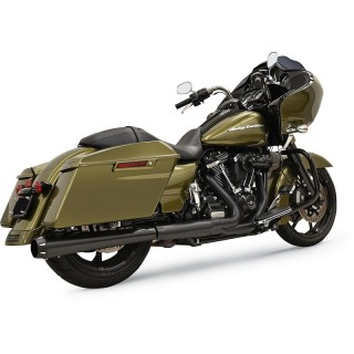 "BASSANI XHAUST CROSSOVER ELIMINATOR SLIP-ON DNT 4"" BLACK MUFFLER TOURING 17-21"