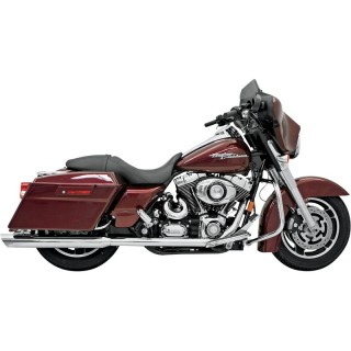 "BASSANI XHAUST SLIP-ON 3-1/2"" SLASH DOWN CUT MUFFLERS HARLEY TOURING 95-16"