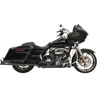 "BASSANI XHAUST SLIP-ON FISHTAIL 33"" BLACK MUFFLERS WITH QUIET BAFFLE TOURING 95-16"