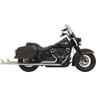 "BASSANI XHAUST TRUE DUALS 2-1/4"" FISHTAIL 39"" CHROME EXHAUST SOFTAIL 18-21"