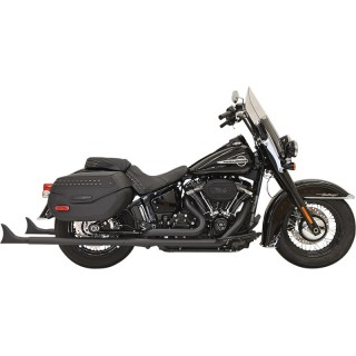 BASSANI XHAUST TRUE DUALS 2-1/4 FISHTAIL 33 BLACK EXHAUST QUIET BAFFLE SOFTAIL 18-21