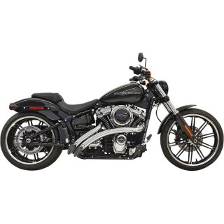 BASSANI XHAUST RADIAL SWEEPERS CHROME EXHAUST HARLEY DAVIDSON SOFTAIL 2018-2021