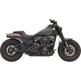 BASSANI XHAUST RADIAL SWEEPERS PERFORATED BLACK EXHAUST HARLEY SOFTAIL 2018-2021