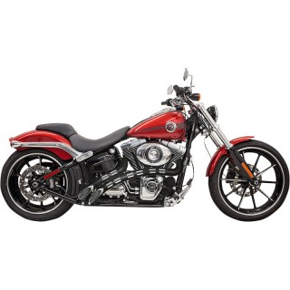 BASSANI XHAUST RADIAL SWEEPERS CHROME/BLACK PERFORATED EXHAUST DYNA 1999-2017