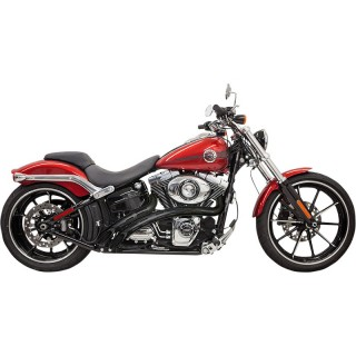 BASSANI XHAUST RADIAL SWEEPERS BLACK PERFORATED EXHAUST HARLEY SOFTAIL 2000-2017