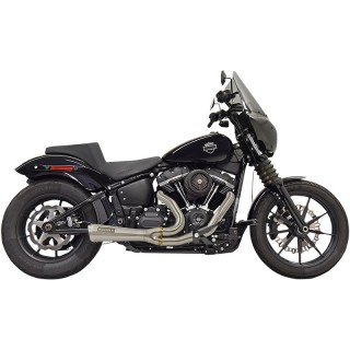 BASSANI XHAUST ROAD RAGE THE RIPPER 2 INTO 1 SHORT STAINLESS STEEL EXHAUST SOFTAIL 18-21
