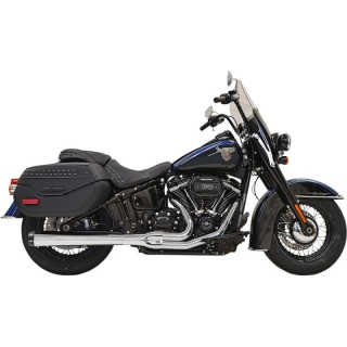BASSANI XHAUST ROAD RAGE 2 INTO 1 LONG CHROME EXHAUST HARLEY SOFTAIL 2018-2021