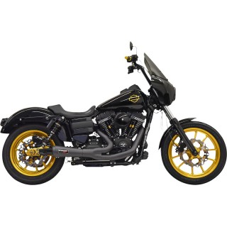 BASSANI XHAUST ROAD RAGE THE RIPPER 2 IN 1 BLACK EXHAUST HARLEY DYNA 1995-2017
