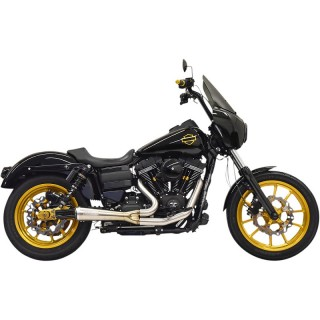 BASSANI XHAUST ROAD RAGE THE RIPPER 2 IN 1 STAINLESS STEEL EXHAUST HARLEY DYNA 1995-2017