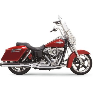 BASSANI XHAUST ROAD RAGE 2 IN 1 LONG CHROME EXHAUST DYNA SWITCHBACK 12-16