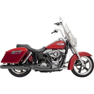 BASSANI XHAUST ROAD RAGE 2 IN 1 LONG BLACK EXHAUST DYNA SWITCHBACK 12-16
