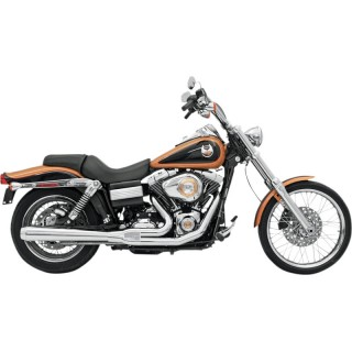 BASSANI XHAUST ROAD RAGE 2 IN 1 LONG CHROME EXHAUST HARLEY DYNA 2006-2017