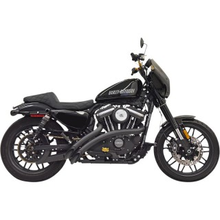 BASSANI XHAUST RADIAL SWEEPER BLACK EXHAUST HARLEY SPORTSTER XL1200 C-CX-T 14-21
