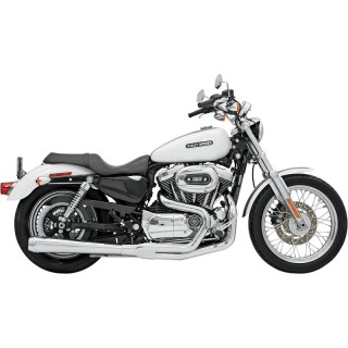 BASSANI XHAUST ROAD RAGE 2 IN 1 LONG CHROME EXHAUST HARLEY SPORTSTER XL 2004-2013