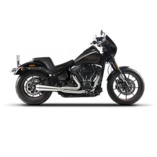 RED THUNDER 2-IN-1 RACING SILVER EXHAUST FOR HARLEY SOFTAIL M8 2018-2021