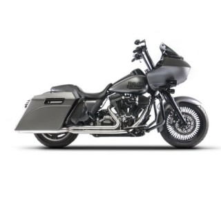 RED THUNDER 2-IN-1 SATIN APPROVED EXHAUST FOR HARLEY TOURING 2009-2016