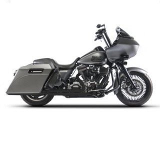 RED THUNDER 2-IN-1 BLACK APPROVED EXHAUST FOR HARLEY TOURING 2009-2016