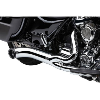 COBRA TURN OUT 2-in-1 CHROME EXHAUST FOR HARLEY DAVIDSON TOURING 2018-2021 - DETAIL