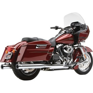 """COBRA SLIP-ON 3"""" CHROME MUFFLERS WITH RACE-PRO END CAP TOURING 1995-2016"""