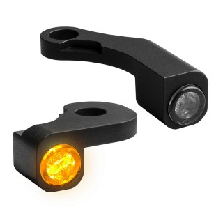 HEINZ BIKE FRONT LED TURN SIGNALS NANO BLACK TOURING 09-13 WITH CABLE CLUTCH