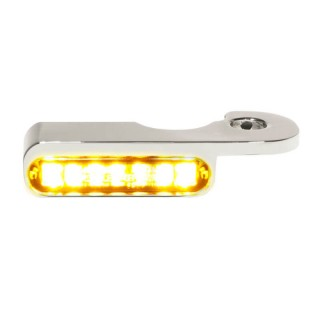 HEINZ BIKES CHROME FRONT LED TURN SIGNALS FOR SOFTAIL BREAKOUT 2013-2014 HYDRAULIC CLUTCH