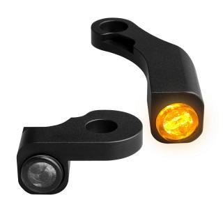 HEINZ BIKE NANO BLACK LED TURN SIGNALS SIDE LIGHT HARLEY SOFTAIL 2015-2017