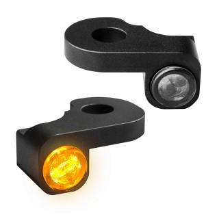 HEINZ BIKE NANO BLACK LED TURN SIGNALS SIDE LIGHT HARLEY STREET 2014-2017