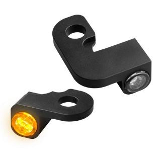 HEINZ BIKE NANO BLACK LED TURN SIGNALS SIDE LIGHT HARLEY SOFTAIL 2000-2014