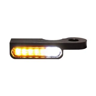 HEINZ BIKES BLACK LED TURN LIGHTS WITH POSITION LIGHTS FOR HARLEY DAVIDSON DYNA 1999-2017 - DETAIL