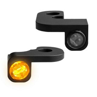 HEINZ BIKE NANO BLACK LED TURN SIGNALS SIDE LIGHT HARLEY DYNA 1995-2017