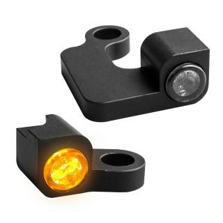 HEINZ BIKE NANO BLACK LED TURN SIGNALS SIDE LIGHT HARLEY SPORTSTER 2004-2013