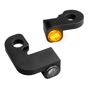 HEINZ BIKE NANO BLACK LED TURN SIGNALS SIDE LIGHT HARLEY SPORTSTER 1990-2003