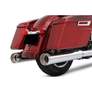 "TERMINALI RINEHART RACING OMOLOGATI SLIP-ON 4.5"" PER MOTORI 117"" CROMATI TOURING 17-21"