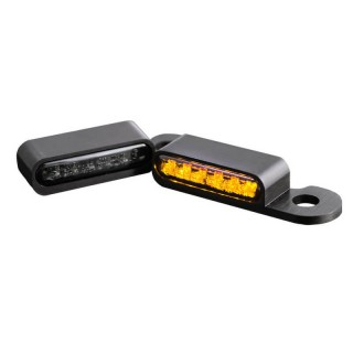 HEINZ BIKES FRONT BLACK LED TURN SIGNALS FOR HARLEY CVO 2002-2017 WITH HYDRAULIC CLUTCH