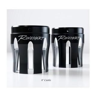 "RINEHART RACING CASTLE BLACK 4"" END CAPS"