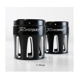 "RINEHART RACING MERGE BLACK 4"" END CAPS"